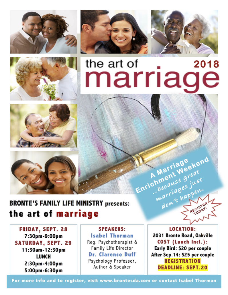 Art of Marriage Flyer