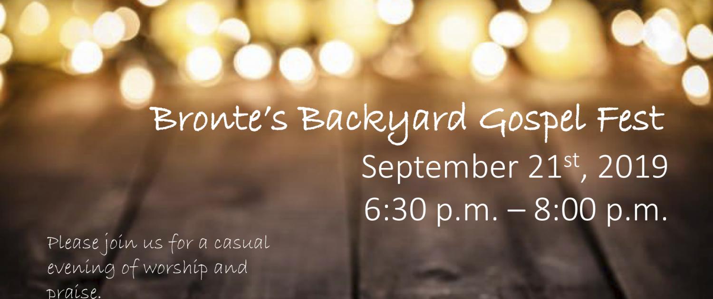 Bronte Backyard Gospel Fest